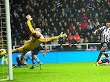 Shola Ameobi scores for Newcastle on December 22, 2012