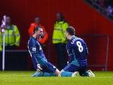 Steven Fletcher celebrates with Craig Gardner after scoring for Sunderland on December 22, 2012