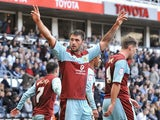 Burnley striker Charlie Austin celebrates a goal against Derby on September 22, 2012
