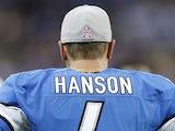 Lions veteran kicker Jason Hanson on the sideline against the Seahawks on October 28, 2012
