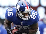New York Giants' Martellus Bennett on October 7, 2012