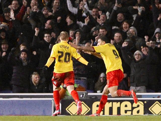 Result: Vydra helps Watford move second