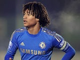 Chelsea midfielder Nathan Ake in NextGen action against Ajax on December 12, 2012