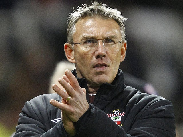 Southampton manager Nigel Atkins on the touchline on December 29, 2012