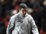 Derby manager Nigel Clough during the match against Chalrton on December 29, 2012