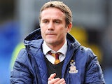 Bradford City manager Phil Parkinson during the match against Rochdale on December 29, 2012