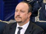 Chelsea interim manager Rafa Benitez during the match against Everton on December 30, 2012