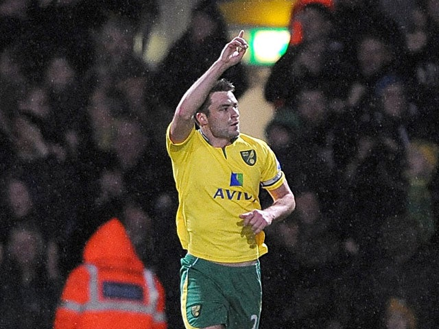Russell Martin celebrates after scoring his team's third goal on December 29, 2012