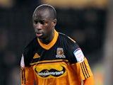 Hull City's Sone Aluko on November 27, 2012