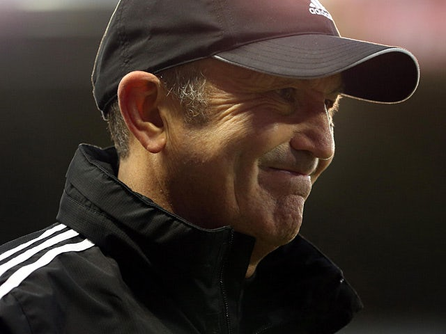 Stoke City manager Tony Pulis during the match against Southampton on December 29, 2012