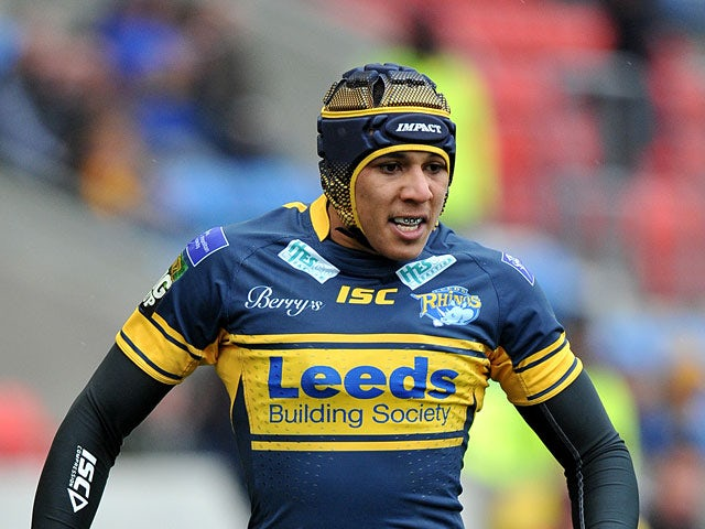 Leeds Rhinos' Ben Jones-Bishop on April 29, 2012