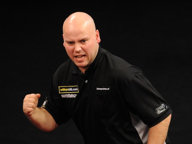 Christian Kist celebrates in a game against Wes Newton on November 16, 2012