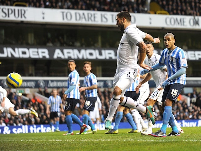 Spurs forward Clint Dempsey opens the scoring against Coventry on January 5, 2013