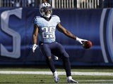 Titans RB Darius Reynaud celebrates a touchdown against the Jags on December 30, 2012