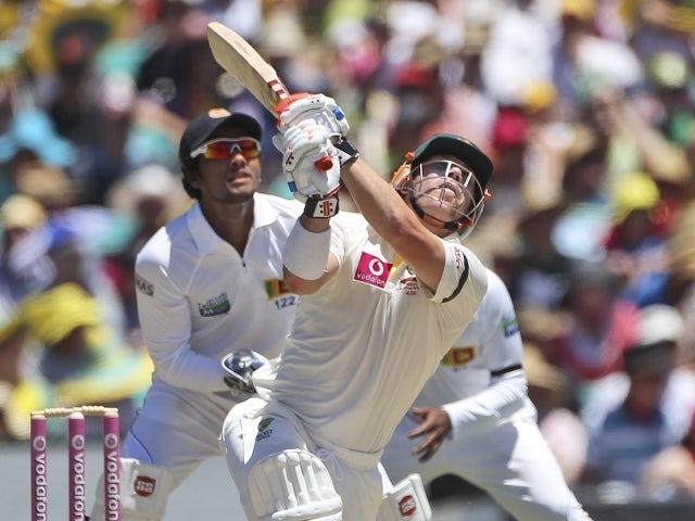 Australia's David Warner on day two of their third Test against Sri Lanka, January 4, 2013