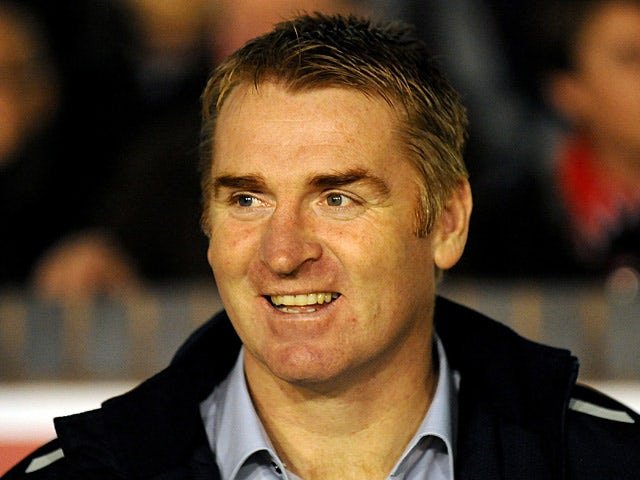 Walsall manager Dean Smith during the match against Portsmouth on January 4, 2013