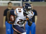 Chicago Bears wide receiver Devin Hester returns the kickoff during their NFL match on December 30, 2012