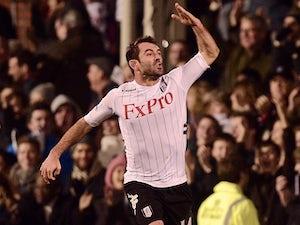 Fulham's Giorgos Karagounis celebrates his equaliser against Blackpool on January 5, 2013
