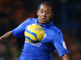 Jaanai Gordon of Peterborough United in action during the FA Cup with Budweiser third round match between Peterborough United and Norwich City on January 5, 2013