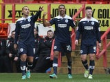 Huddersfield striker Jermaine Beckford celebrates his goal against Charlton on January 5, 2013