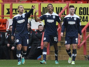 Half-Time Report: Beckford puts Terriers ahead