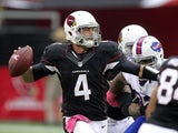 Arizona Cardinals quarterback Kevin Kolb in action October 14, 2012