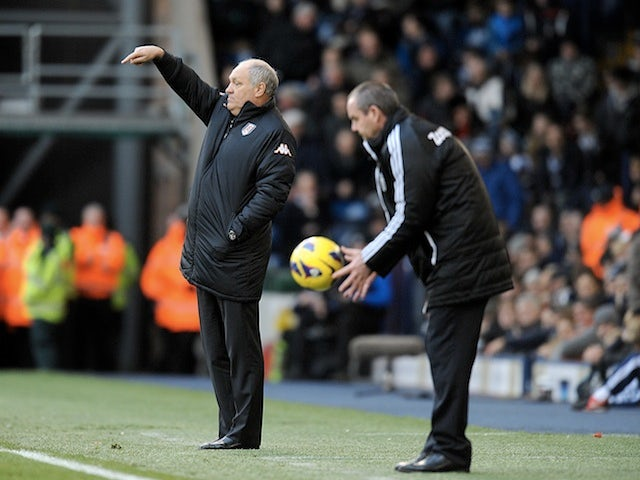 Opposing bosses Martin Jol and Steve Clarke on the touchline on New Years Day 2013