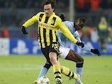 Dortmund defender Mats Hummels in action against Manchester City on December 4, 2012