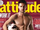 Matt Jarvis on the front cover of Attitude magazine (4x3 version)