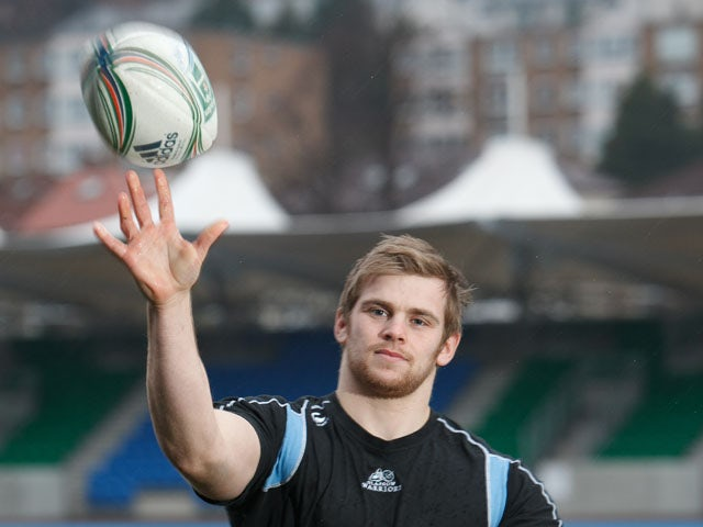 Glasgow Warriors' Pat MacArthur on December 14, 2012