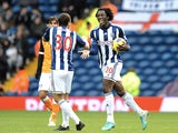 Baggies forward Romelu Lukaku celebrates his equaliser against Fulham on January 1, 2013