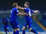 Birmingham's Wade Elliott celebrates his goal against Leeds on January 5, 2013
