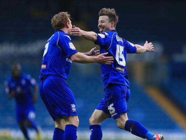 Birmingham's Wade Elliott celebrates his goal against Leeds on January 5, 2013