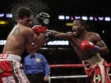 Adrien Broner lands a punch on Daniel Ponce De Leon during their fight on 5 March, 2011