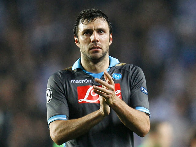 Napoli's Andrea Dossena on March 14, 2012
