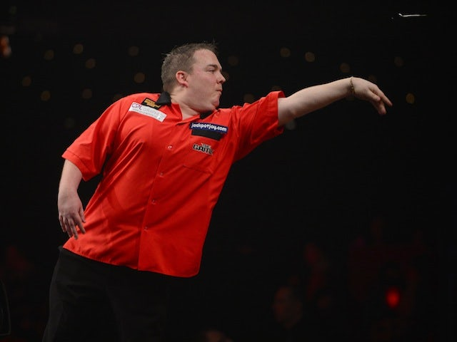 Andy Douglas in action in the BDO World Darts Championship on January 6, 2013