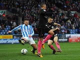 Birmingham's Callum Reilly opens the scoring against Huddersfield on January 12, 2013