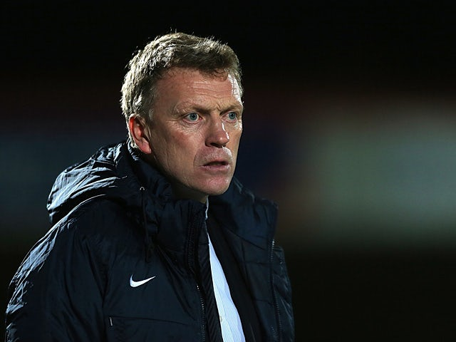 Everton manager David Moyes during the FA Cup match against Cheltenham on January 7, 2013