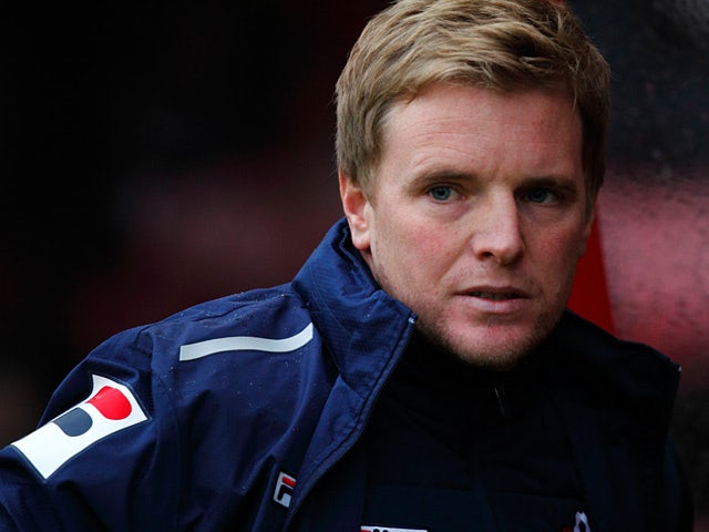 Bournemouth manager Eddie Howe during the match against Swindon on January 12, 2013