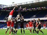 Stuart McInally wins the ball for Edinburgh during their Heineken Cup match with Munster on 13 January, 2013