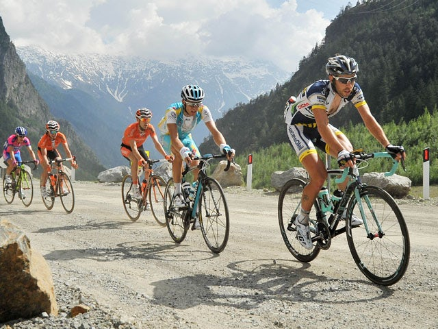 Cyclists during the 20th stage of the Giro d'Italia on 26 May, 2012