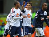 Keith Andrews celebrates after converting a penalty to equalise against Millwall on January 12, 2013