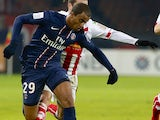 Lucas Moura makes his debut for PSG at the Parc des Princes stadium on 11 January, 2013