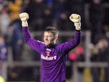 Carlisle keeper Mark Gillespie celebrates victory over Coventry on January 13, 2013