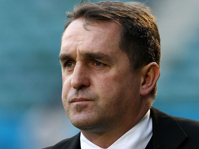Gillingham manager Martin Allen during the match against Port Vale on January 12, 2013