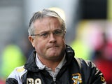 Port Vale manager Micky Adams during the match against Gillingham on January 12, 2013