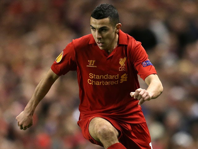 Oussama Assaidi of Liverpool during their match with Young Boys on 22 November, 2012