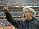 Cowboys defensive co-ordinator Rob Ryan leaves the field after a game with the Bengals on December 9, 2012