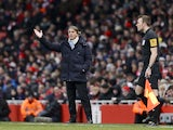 City manager Roberto Mancini on the Emirates Stadium touchline on January 13, 2013