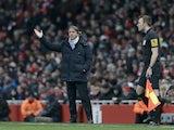 City manager Roberto Mancini on the Emirates Stadium touchline on January 13, 2013